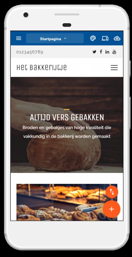 Basepack Sitebuilder vult je website alvast in